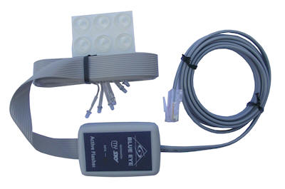 Blue Eye Active Flasher Module. For use with single and multi-room applications. Comes with RJ45 plug.